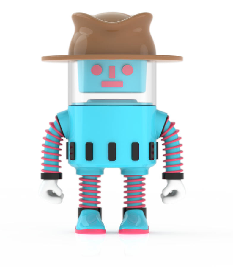 Konstantin Baumann Spacebot Spencer Vinyl toy konstantin baumann kamuii toydesign indusrtrial design concept