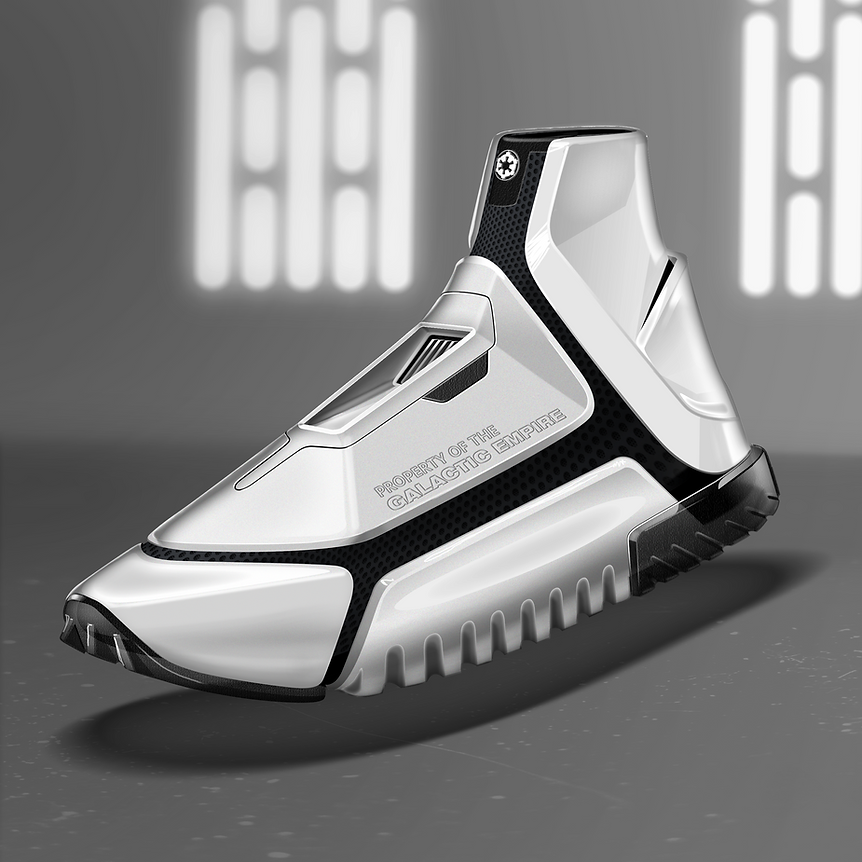 Sneaker Renderings Konstantin Baumann kamuii_id kamuii.ooo Industrial Design Photoshop Sketch scribble starwars star wars stormtrooper galatic empire concept kicks