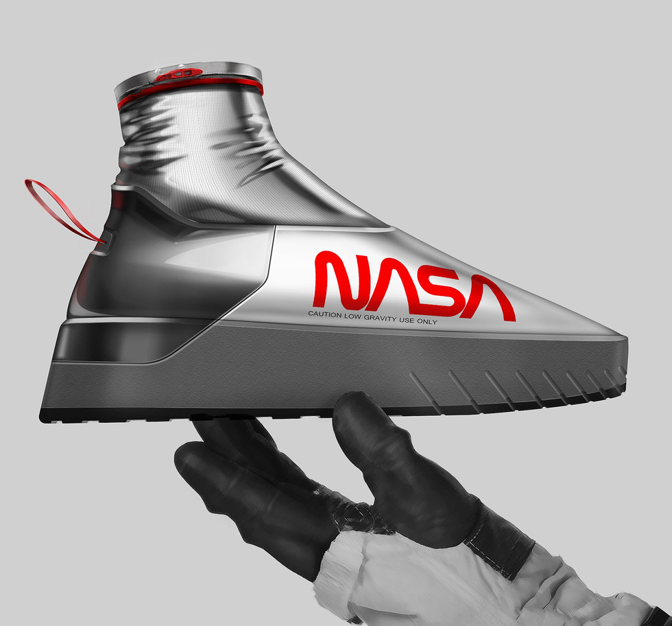 Sneaker Renderings Konstantin Baumann kamuii_id kamuii.ooo Industrial Design Photoshop Sketch scribble nasa space ex astronaut pilot space galaxy astro