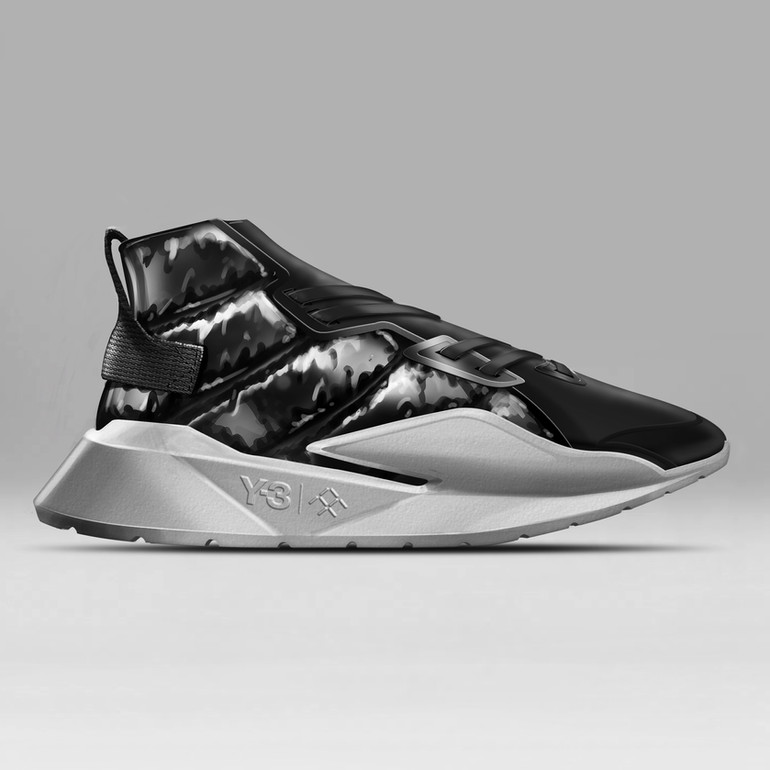 Sneaker Renderings Konstantin Baumann kamuii_id kamuii.ooo Industrial Design Photoshop Sketch scribble faraday future