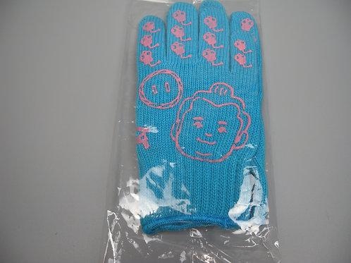 朝乃山公式応援手袋(送料含)水色