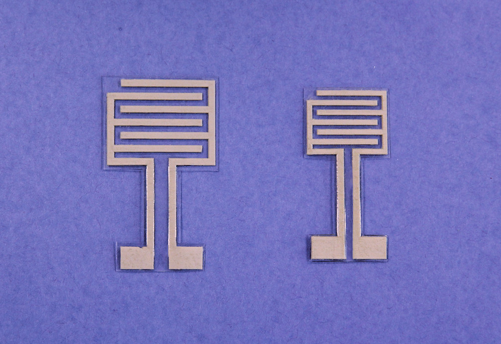 The hydration sensors consist of two electrodes made of an elastic polymer composite that contains conductive silver nanowires.