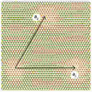 """The twist angle formed between atomically thin layers of tungsten disulfide and tungsten diselenide acts as a """"tuning knob,"""" turning ordinary semiconductors into an exotic quantum material.  @ Berkeley Lab"""