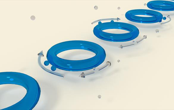 Two light scatterers, represented by the blue spheres, are utilized to tune the sensors to exceptional points, at which light propagates in one direction. @ W. Chen and L. Yang