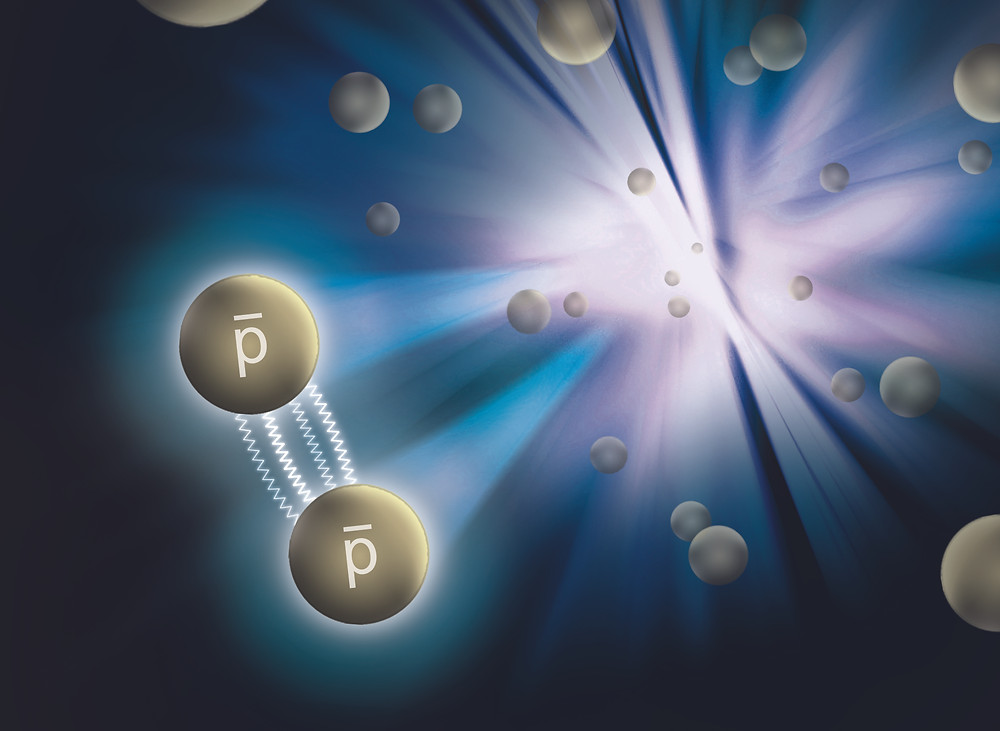 A new measurement by RHIC's STAR collaboration reveals that the force between antiprotons (p) is attractive and strong—just like the force that holds ordinary protons (p) together within the nuclei of atoms.