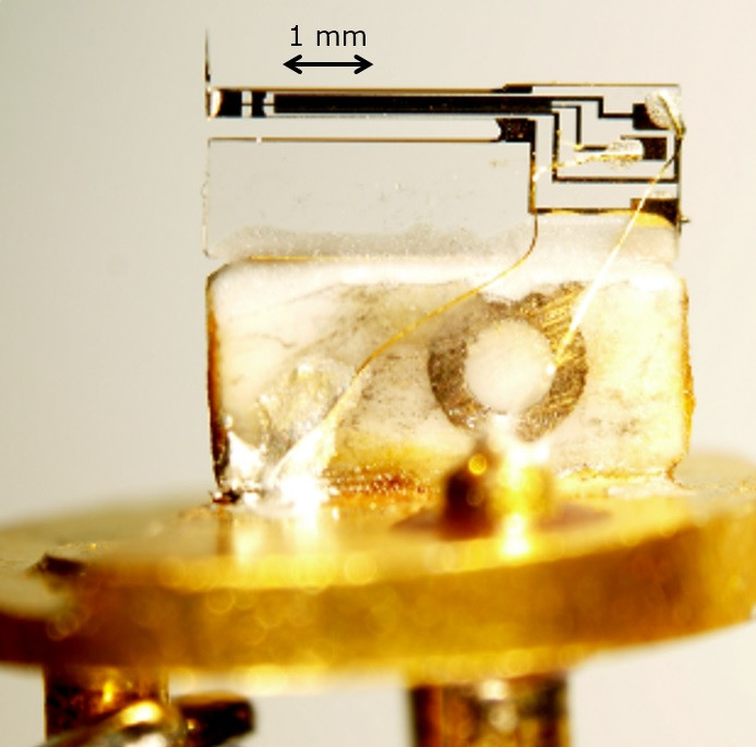 Sensor inside the force microscope