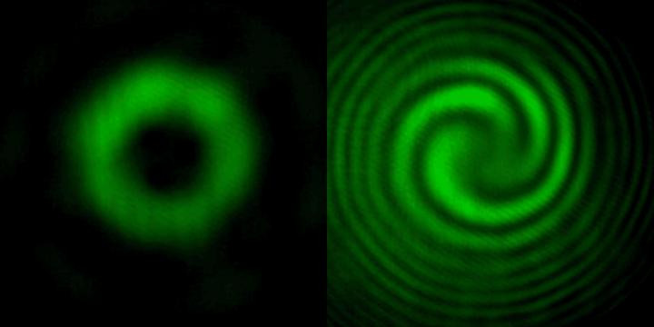 A metasurface can generate strange new beams of light that swirl and corkscrew. The black hole in the center of these vortices can be used to image features smaller than half a wavelength of light or move tiny molecules. @ Harvard SEAS