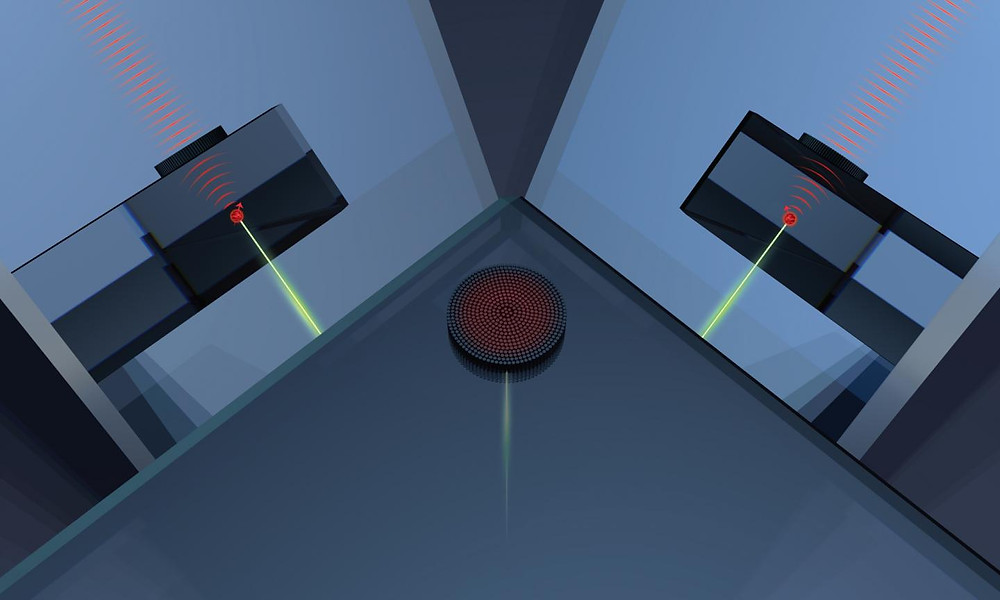By finding a certain kind of defect inside a block of diamond and fashioning a pattern of nanoscale pillars on the surface above it, the researchers can control the shape of individual photons emitted by the defect. Because those photons carry information about the spin state of an electron, such a system could be used as the basis for compact quantum technologies.  @ Ann Sizemore Blevins