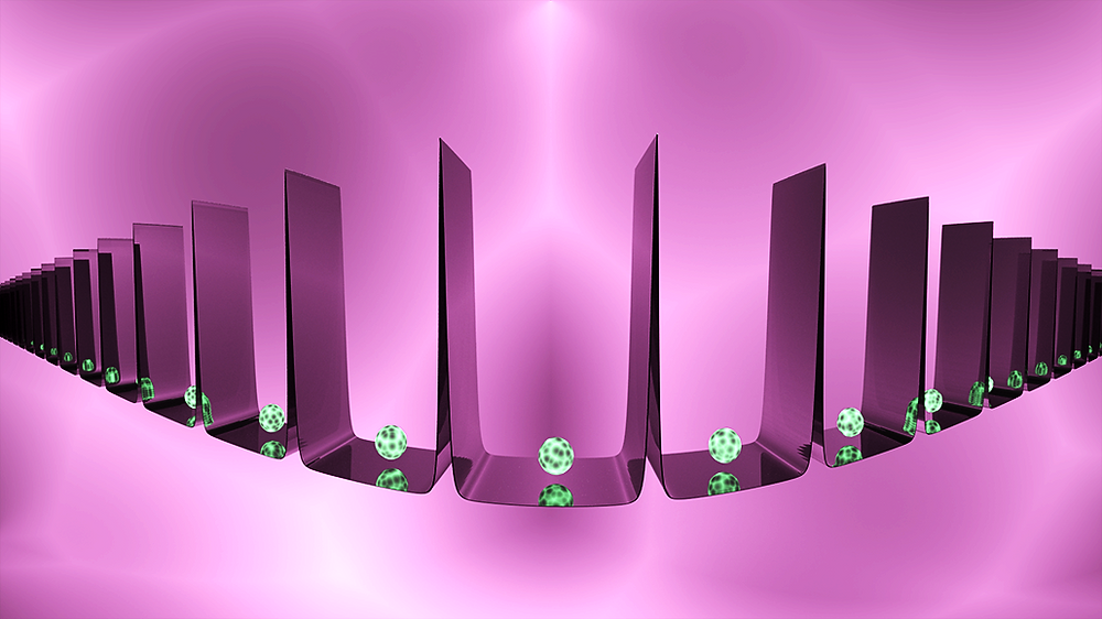 A new method allows scientists to trap atoms between steep walls. @ N.Beier/JQI