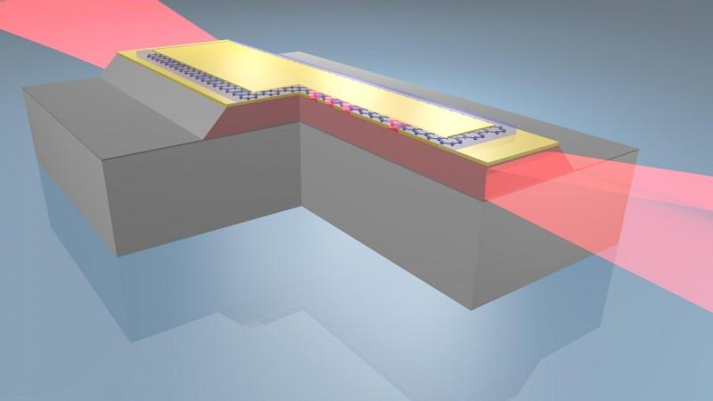 Graphene tuned terahertz laser