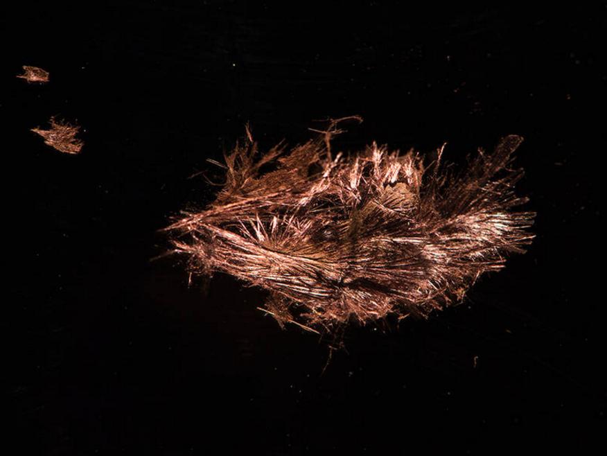 Needles of the flexible semiconducting material SnIP – Photo: Andreas Battenberg / TUM