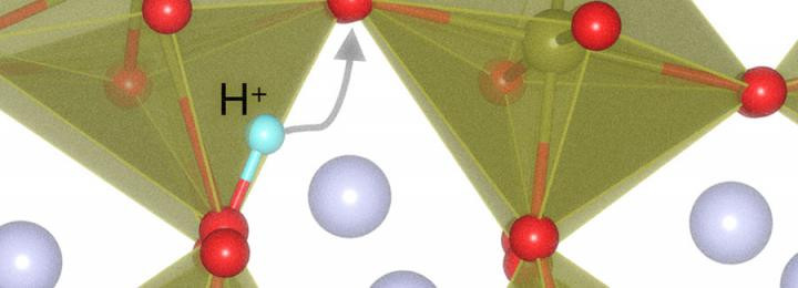 'When scientists add or remove a proton (H+) from the perovskite (SmNiO3 (SNO)) lattice, the material's atomic structure expands or contracts dramatically to accommodate it in a process called 'lattice breathing,'' said Badri Narayanan, an Argonne assistant material scientist and co-author of the study. But when it happens repeatedly, this activity wanes, resembling human forgetfulness. @ Argonne National Laboratory