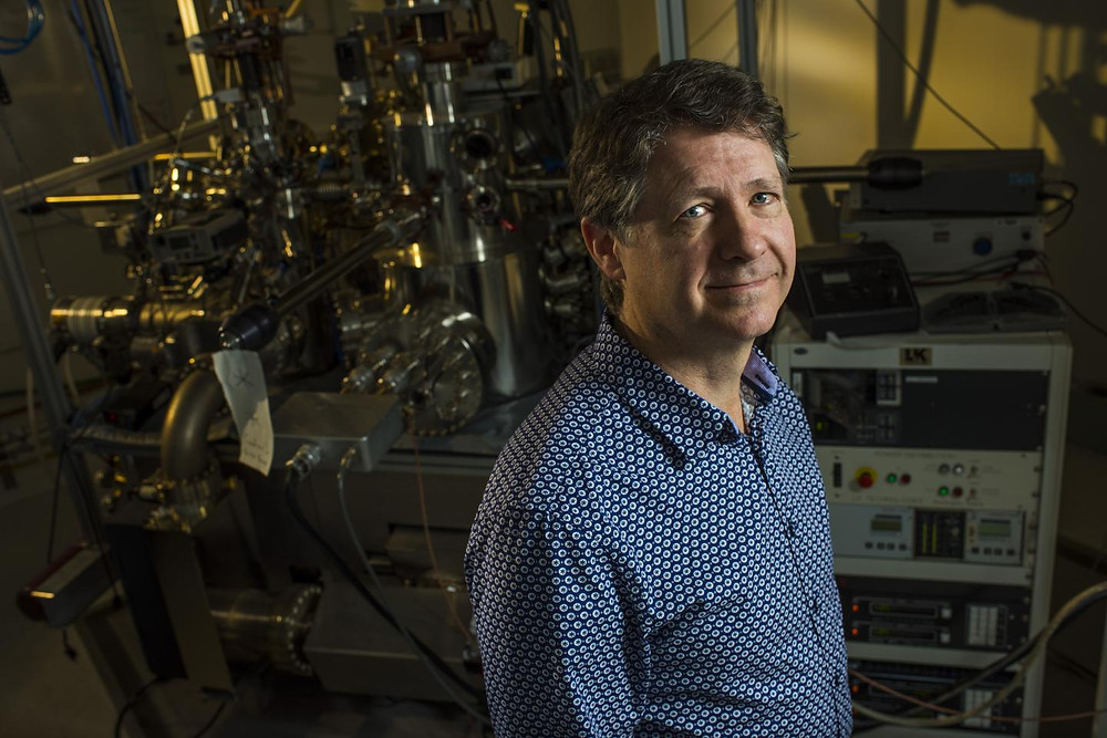 Robert Wolkow, University of Alberta physics professor and the Principal Research Officer at Canada's National Institute for Nanotechnology, has developed a technique to switch a single-atom channel. @ John Ulan