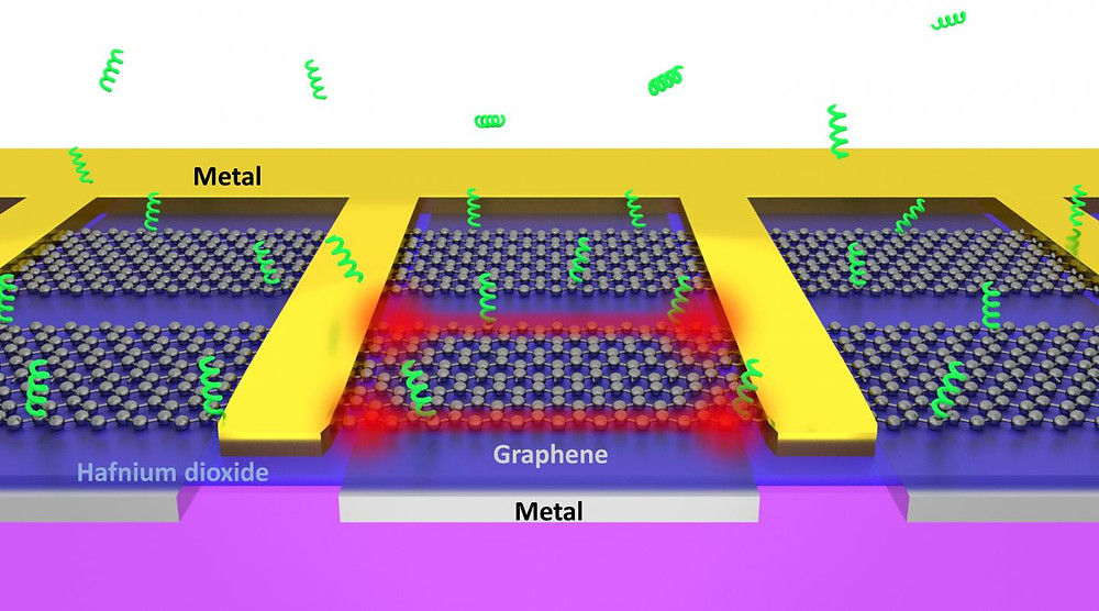 Atomically sharp edges of electrically driven graphene can act as 'tweezers' that rapidly trap biomolecules from the surrounding solution. @ In-Ho Lee, University of Minnesota