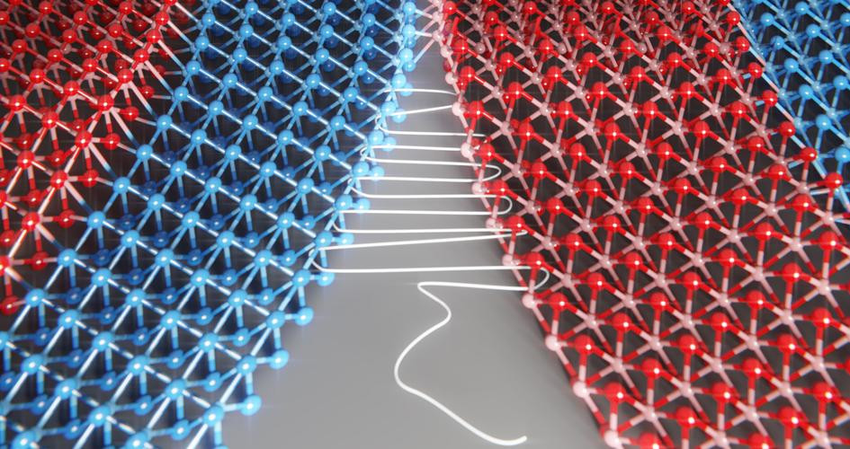 A new study reveals a technique to 'sew' two patches of crystals seamlessly together to create atomically-thin fabrics. @ Saien Xie