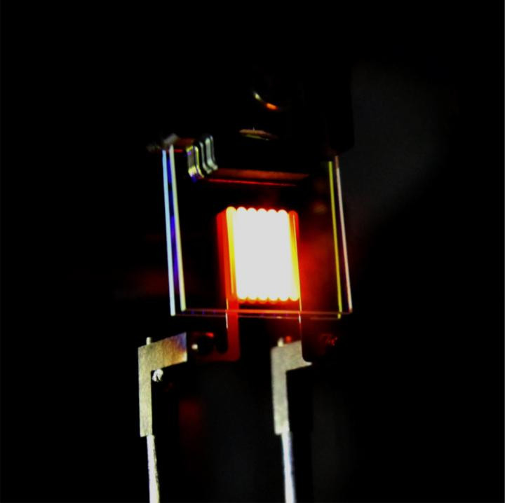 A nanophotonic incandescent light bulb demonstrates the ability to tailor light radiated by a hot object. CREDIT Ognjen Ilic