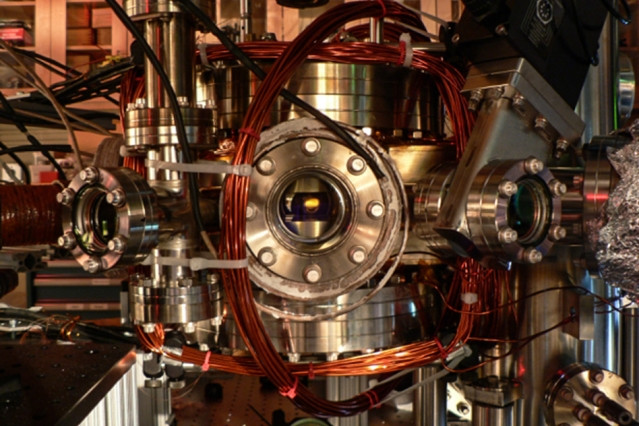 This vacuum chamber with apertures for several laser beams was used to cool molecules of sodium-potassium down to temperatures of a few hundred nanoKelvins, or billionths of a degree above absolute zero. Such molecules could be used as a new kind of qubit, a building block for eventual quantum computers.  Courtesy of the researchers