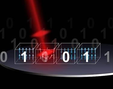 Next generation photonic memory devices are light-written, ultrafast and energy efficient