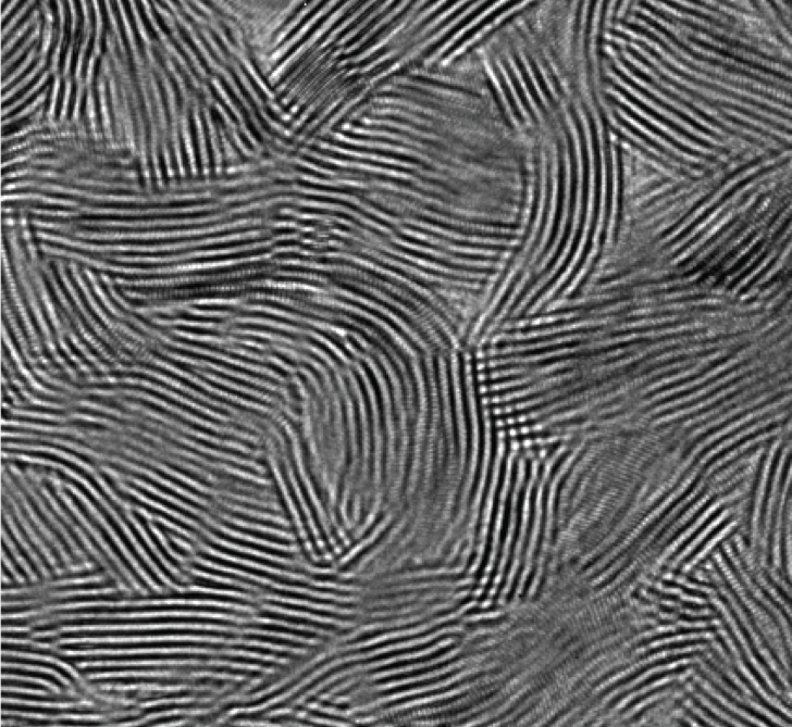 An electron micrograph shows the pattern of nanostructured walls on the surface of the device. When the device was dropped into a sample of contaminated water and placed in sunlight, it killed more than 99.999 percent of bacteria in just 20 minutes. (C. Liu et al., Nature Nanotechnology)
