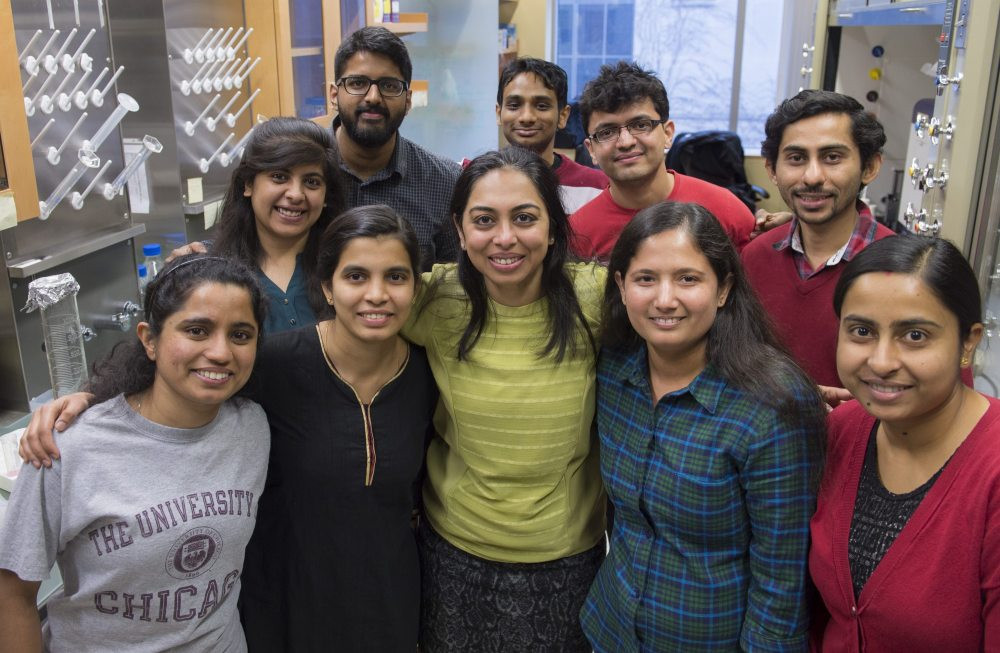 Prof. Yamuna Krishnan transplanted most of her research group from India to the United States since joining the UChicago faculty in 2014.  Photo by Robert Kozloff