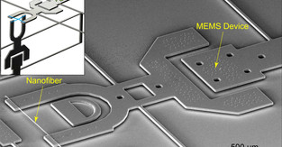 Measuring adhesion and friction of polymer nanofibers