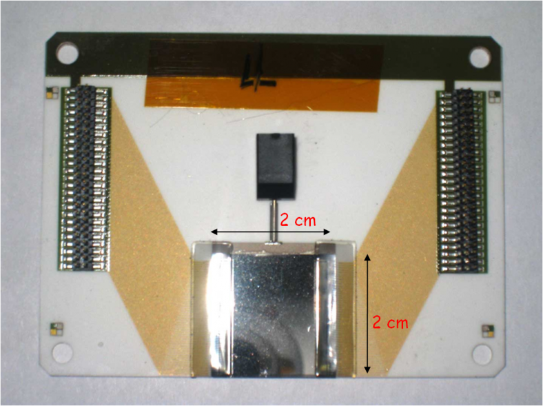 A detailed view of the diamond wafers scientists use to get a better measure of spinning electrons