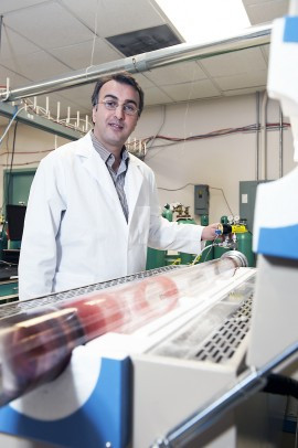 Amin Salehi-Khojin, assistant professor of mechanical/industrial engineering. Photo: UIC Photo Services