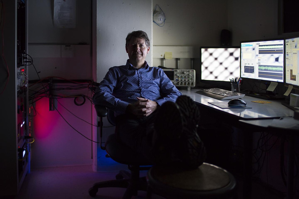 UAlberta physicist Robert Wolkow and his team have unlocked the potential for greener, faster, smaller electronic circuitry. @ John Ulan for UAlberta