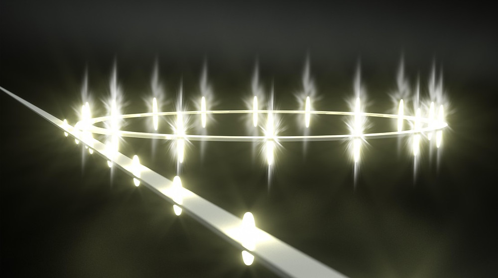 EPFL scientists have shown how light inside optical on-chip microresonators can be crystallized in a form of periodic pulse trains that can boost the performance of optical communication links or endow ultrafast LiDAR with sub-micron precision.