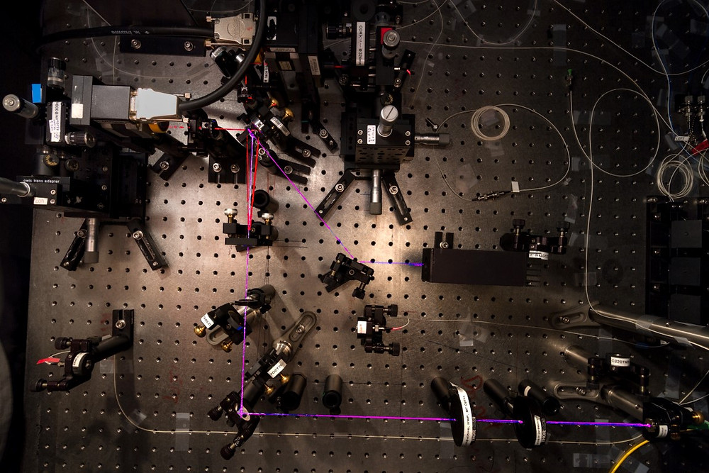 This experiment at the Centre for Quantum Technologies in Singapore has made a record measurement of entanglement – approaching the quantum limit with extreme precision. Photo Credit: Alessandro Cerè / CQT, National University of Singapore