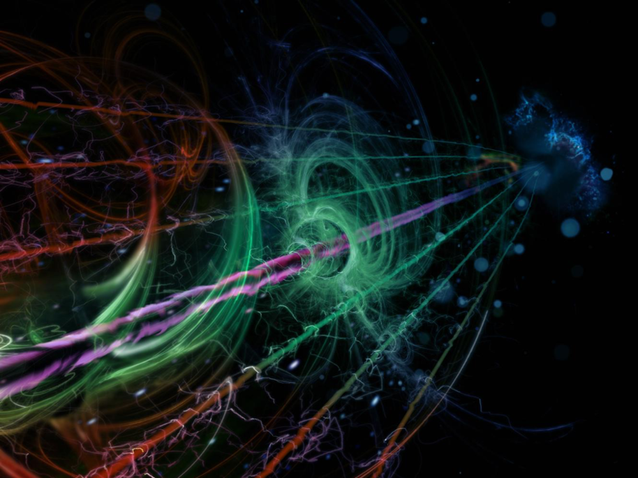Artistic impression of a quantum resonator coupled to environmental modes. @ Heikka Valja.