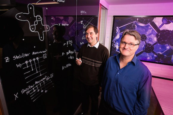 Dr Charles Hill (left) and Professor Lloyd Hollenberg (right) from the University of Melbourne