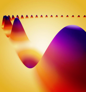A spin wave spreading along a magnetic domain wall.  @ HZDR / Juniks