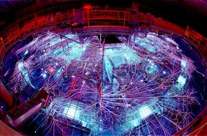 The Sandia Z machine. Credit: Sandia National Laboratories. Photo by Randy Montoya.