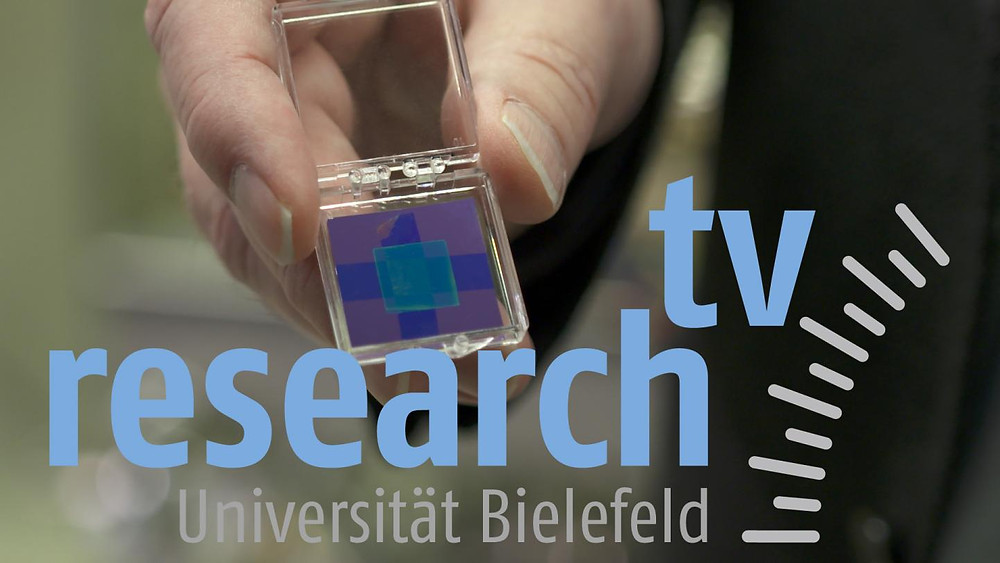 Carbon nanomembranes are the topic of the new 'research_tv' film. The membranes are only seven nanometres thick. In future, they could be used as both filters and protective layers. @ Photo: Bielefeld University