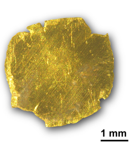 Gold removed and recovered from polluted water. (Photograph: ETH Zurich/R. Mezzenga/S. Bolisetty)