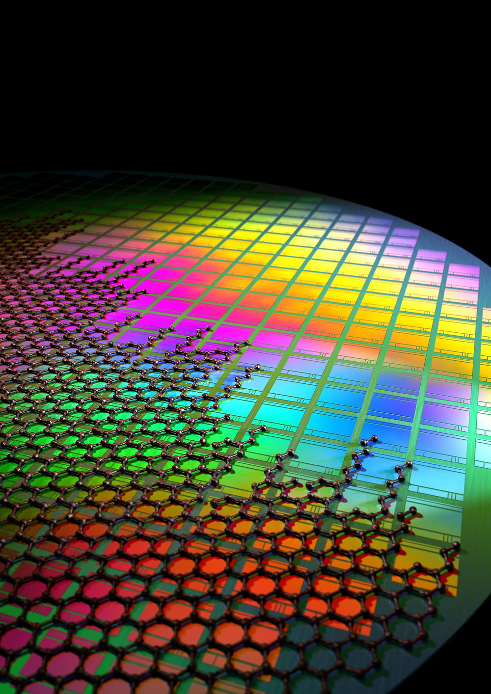 This is graphene integrated onto CMOS pixels. @ Fabien Vialla