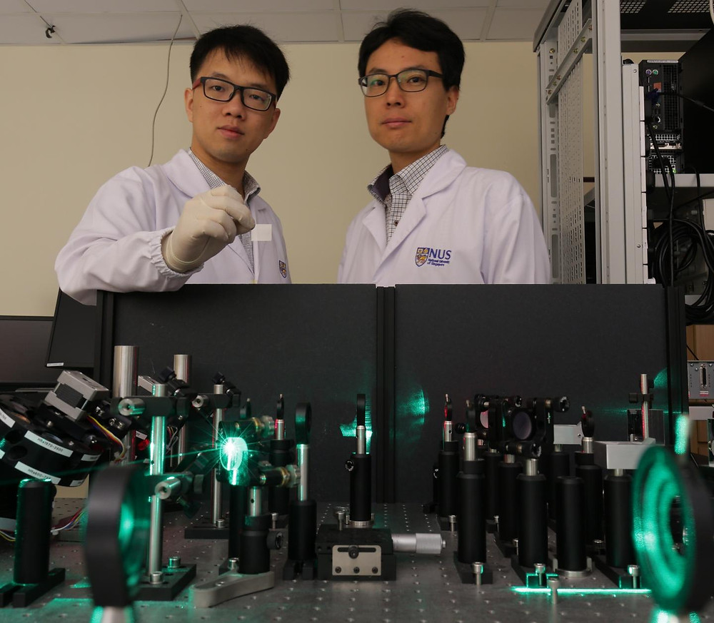 This is the team's low-cost THz radiation sources, which can be powered by a low-power laser, present promising applications in spectroscopy, safety surveillance, cancer diagnosis, imaging and communication. @ National University of Singapore