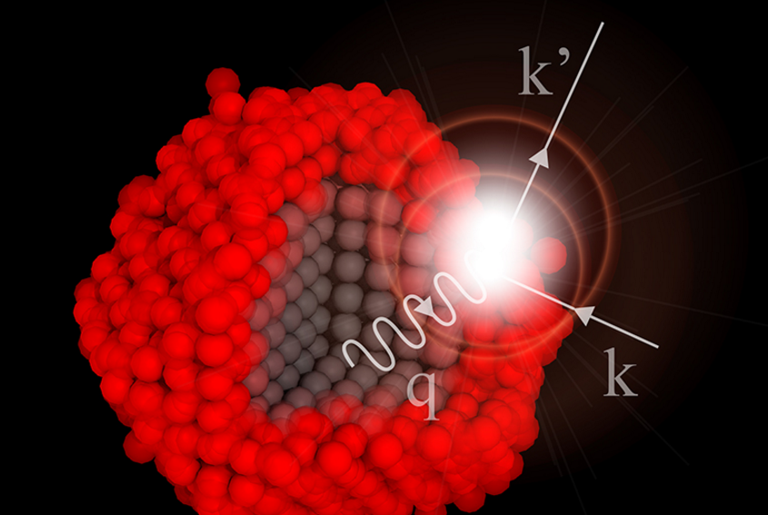 """Vibrations of atoms in materials, the """"phonons"""", are responsible for how electric charge and heat is transported in materials. (Graphics: Deniz Bozyigit / ETH Zurich)"""