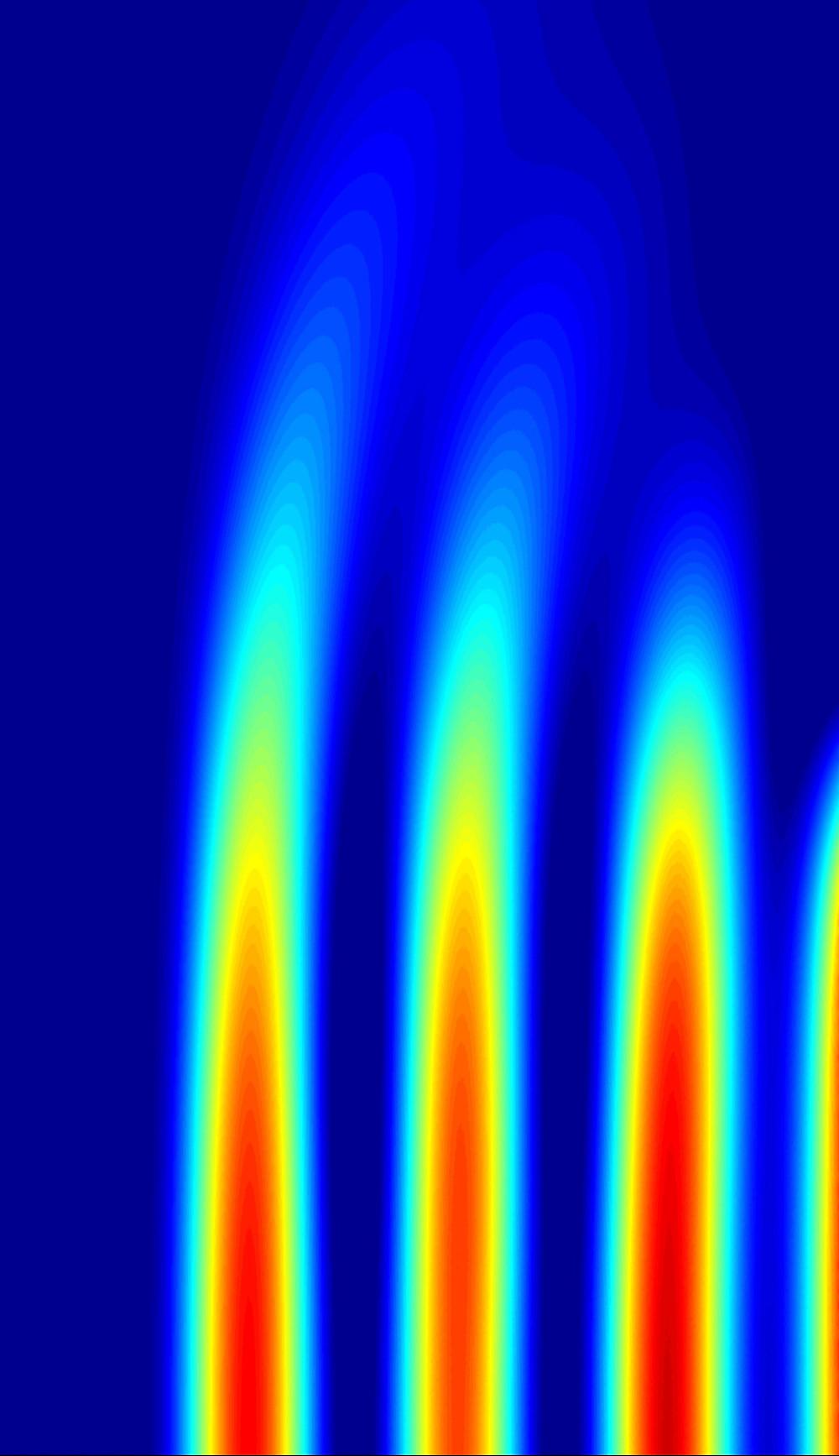 Propagation of the terahertz waves in ionized gas in a magnetic field of 178 tesla. Copyright: Forschungszentrum Jülich