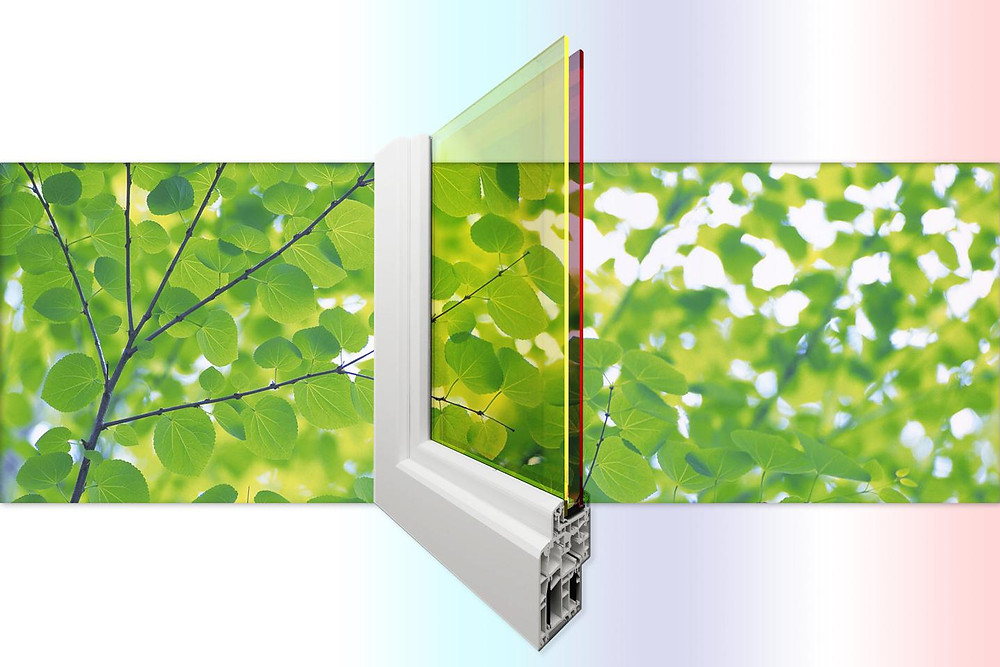 Researchers at Los Alamos National Laboraotry are creating double-pane solar windows that generate electricity with greater efficiency and also create shading and insulation. It's all made possible by a new window architecture which utilizes two different layers of low-cost quantum dots tuned to absorb different parts of the solar spectrum. The approach complements existing photovoltaic technology by adding high-efficiency sunlight collectors to existing solar panels or integrating them as semitransparent windows into a building's architecture.  @ Los Alamos National Laboratory