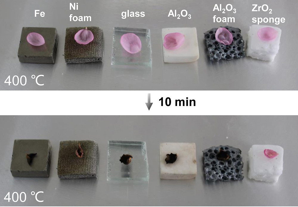 Ceramic nanofiber sponges retain the heat resistance that makes ceramics useful in high-temperature applications. They even outperform other ceramic materials (Al2O3) in insulating at temperature around 400 degrees C. @ Brown University