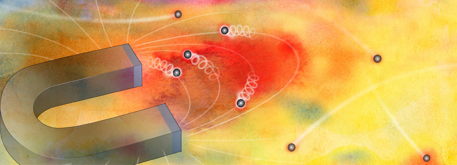 In a new study, Argonne scientists have discovered a way to confine the behavior of electrons by using extremely high magnetic fields. (Image by Argonne National Laboratory.)