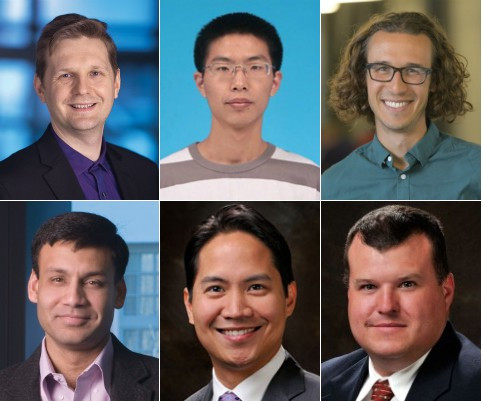 Top row: Igor Bargatin, Chen Lin and Samuel Nicaise. Bottom row: Prashant Purohit, Gerald Lopez and Meredith Metzler.