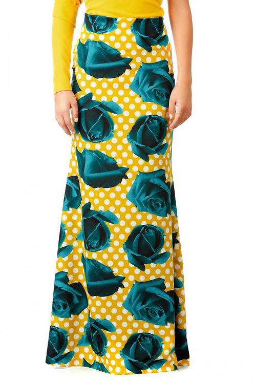 Falda estampada larga
