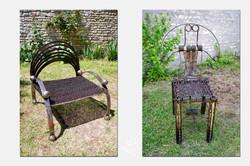 Fauteuil et chaise chaÎne