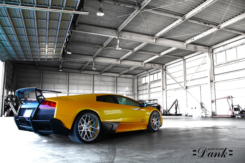 Lamborghini Murcielago Yellow SV Fitted With 20'' HFC7