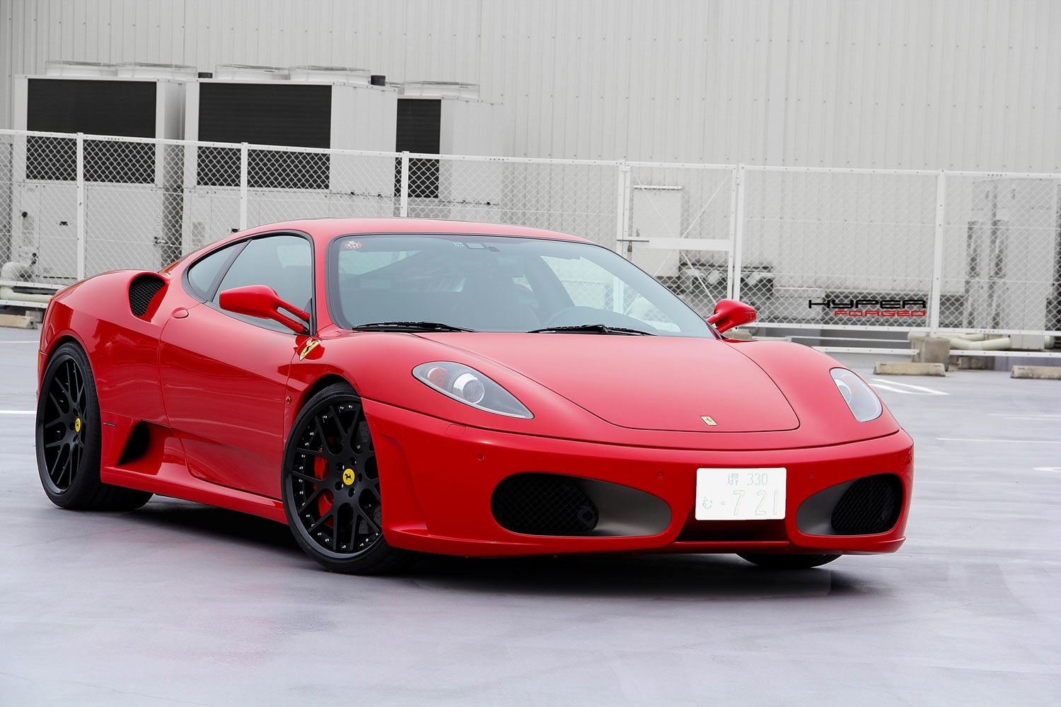 Ferrari F430 Fitted with 20'' HFC7 Black