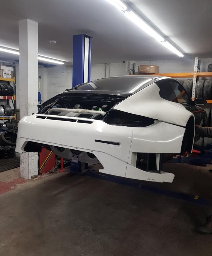 Speedwells_ Porsche 997 Turbo Rear end GT3R Mock Up
