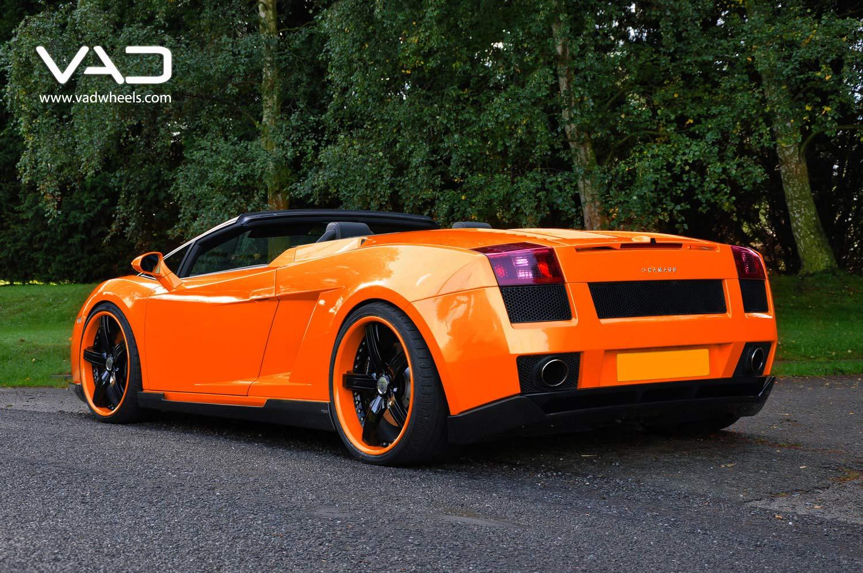 Lamborghini-Gallardo-Orange-Fitted-With-20''-Trafficstar-STR-Black-coded-Rim